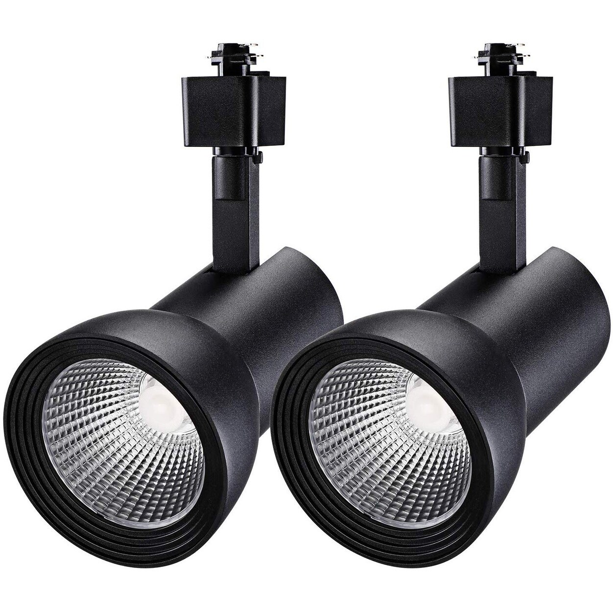 2 Pack 18w Aluminum Led Track Lighting Heads 4000k Cool White Black White