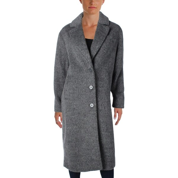 Jones New York Womens Maxi Coat Winter Wool Blend