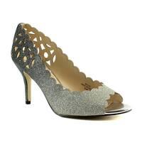 J. Renee Womens Bailee Pewter Open Toe Heels Size 9