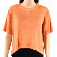 Abound Womens Burnout Ribbed Scoop Neck Knit Top $25