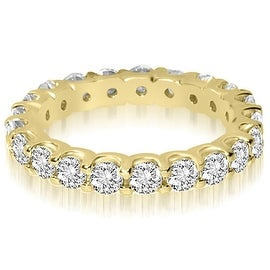 1.40 cttw. 14K Yellow Gold Round Shared Prong Diamond Eternity Ring