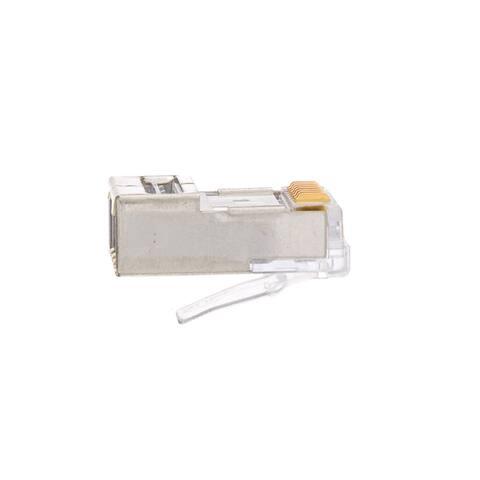 Offex Platinum Tools EZ RJ45 Shielded Cat5e Crimp Plugs, 100 Pieces - Not Available