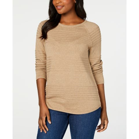 Karen Scott Women's Ribbed Cotton Pullover Sweater Size Extra Large