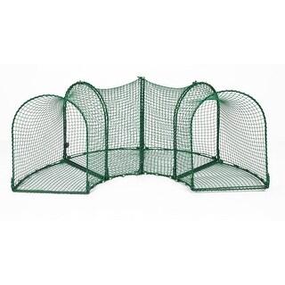"Kittywalk Curves (4) Outdoor Cat Enclosure Green 96"" x 18"" x 24"""