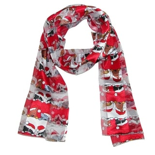 Howard's Women's Christmas Cat & Dog with Santa Hat Scarf - One size