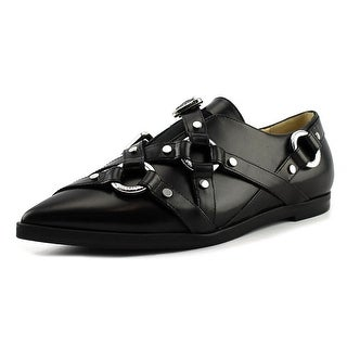 Moschino Pointed Toe Buckle Strap Loafer   Pointed Toe Leather  Loafer
