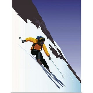 """Downhill Skiing"" Poster Print"