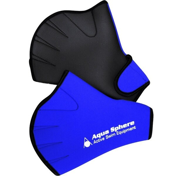 12c8a0cc583 Shop Aqua Sphere Webbed Swim Gloves - Blue - Free Shipping On Orders Over  $45 - Overstock - 16078964