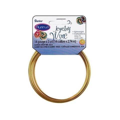 Darice Jewelry Wire Aluminum 14Ga 3yd Gold