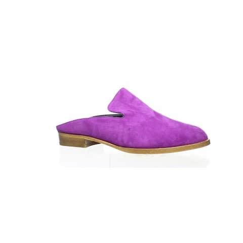 Robert Clergerie Womens Alicen Purple Mules Size 5
