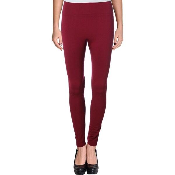 New Women Nylon Highwaisted Front Zipper Flice Lined Gray Leggings Skinny Pants
