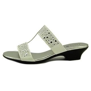Karen Scott Womens Eddina Canvas Open Toe Casual Slide Sandals