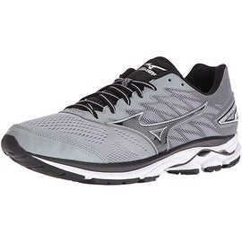 Mizuno Men's Wave Rider 20 Running Shoe, Light Grey/Black, 9 D US