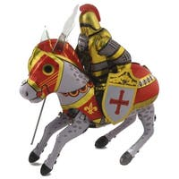 Knight With Steed Tin Wind Up Toy - Multi