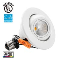 1/4 PACK 10W 4inch High CRI Dimmable Gimbal LED Recessed Light,2700K/5000K