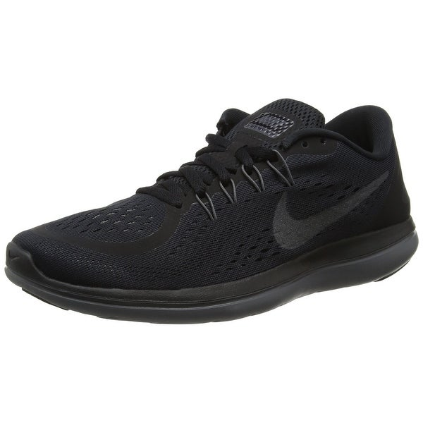 76f7ddfc576a Shop Women s Nike Flex 2017 RN Running Shoe Black Metallic Hematite ...