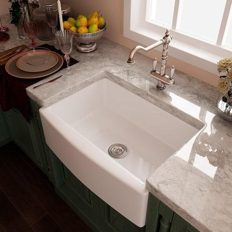 Eridanus Rio 30-in Fireclay Farmhouse Kitchen Sink
