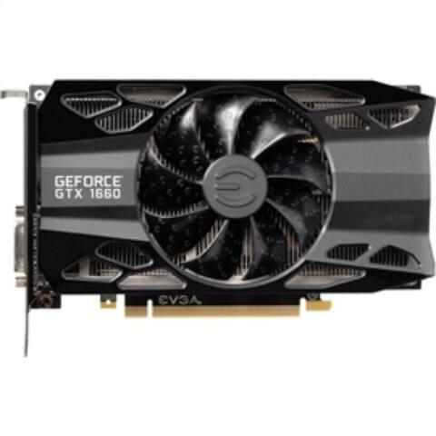 EVGA Video Card 06G-P4-1161-KR GeForce GTX1660 XC 6GB GDDR5 192Bit HDMI/DisplayPort/PCI Express Black Retail