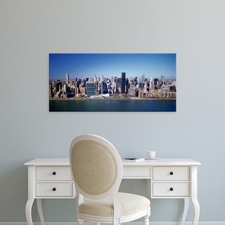 Easy Art Prints Panoramic Image 'Buildings on the waterfront, Manhattan, New York City, New York, USA' Canvas Art