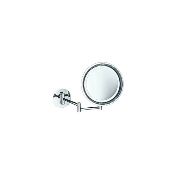 Ws Bath Collections 16 Spiegel Battery Ed Circular Magnifying Wall Mounted Mirror With Extendable Arm