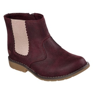 Skechers 87608L BURG Girl's UPTOWN - SHINE SISTERS Boot