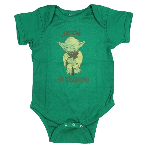 Star Wars Baby Boys' Toddler Yoda Jedi In Training Bodysuit Snapsuit