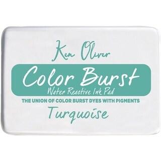 """Ken Oliver Color Burst 3.75""""X2.5"""" Stamp Pad-Turquoise"""