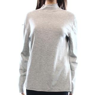 Designer NEW Heather Gray Women's Size Medium M Turtleneck Mock Sweater