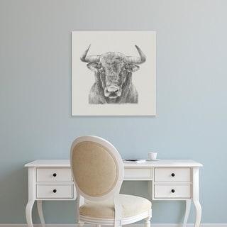 Easy Art Prints Ethan Harper's 'Black & White Bull' Premium Canvas Art