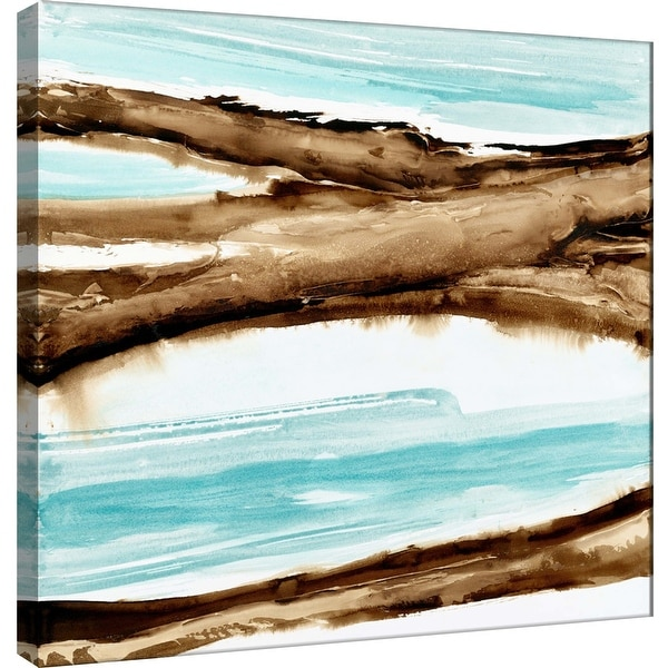"""PTM Images 9-100962 PTM Canvas Collection 12"""" x 12"""" - """"Driftwood 1"""" Giclee Beaches Art Print on Canvas"""
