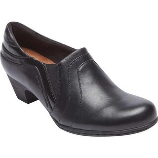 Rockport Women's Brynn Slip On Black Leather