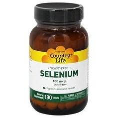Country Life Vitamins - SELENIUM 100 MCG 180 Tablet