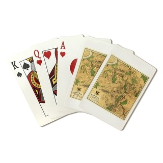 Battle of Antietam - Civil War - (1862) - Panoramic Map (Playing Card Deck - 52 Card Poker Size with Jokers)