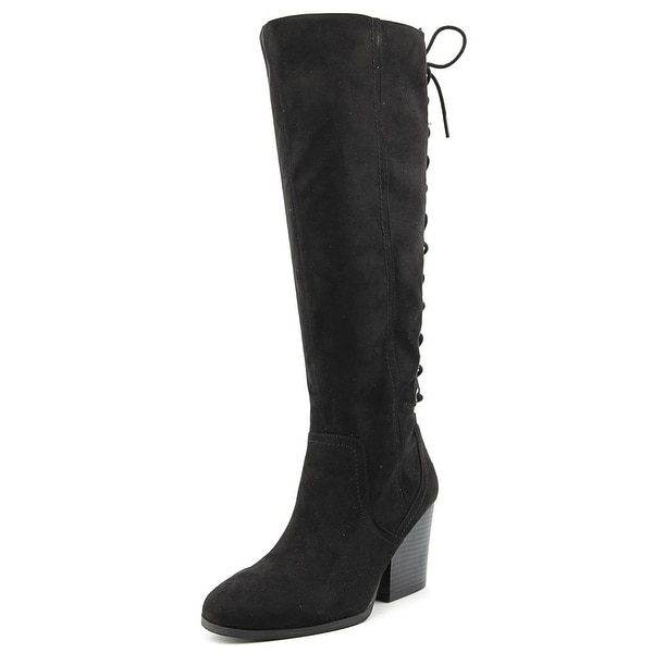 Circus by Sam Edelman Teydin Women Round Toe Canvas Black Knee High Boot