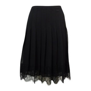 Lauren Ralph Lauren Women's Scalloped-Lace Chiffon Skirt - 4