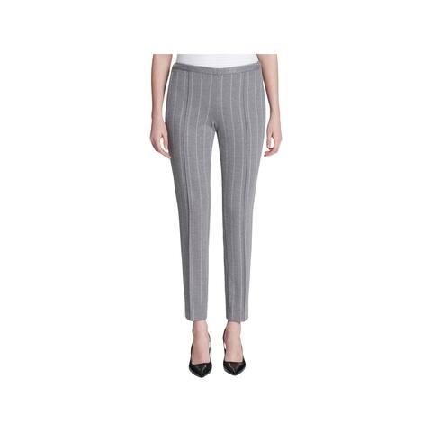 Calvin Klein Womens Suit Pants Striped Mid-Rise