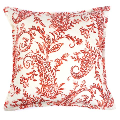 Karen Paisley Throw Pillow