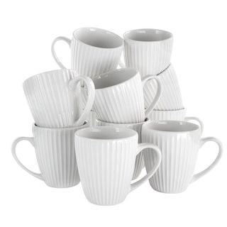 Link to Elama Elle 12 Piece Round Porcelain Mug Set in White Similar Items in Dinnerware