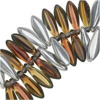 Czech Glass, Drop Beads 5x16mm, 25 Pieces, Backlit Menthol