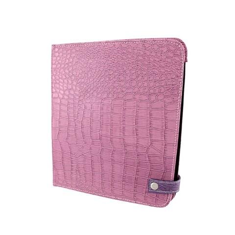 Purple Mock Croc iPad Cover/Stand