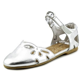 Balleto by Jumping Jacks Sadie Youth Round Toe Synthetic Silver Flats