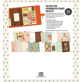 Carpe Diem A5 Planner Reset Girl Boxed Set-Persimmon