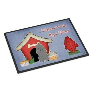 Carolines Treasures BB2822JMAT Dog House Collection Poodle Silver Indoor or Outdoor Mat 24 x 0.25 x 36 in.