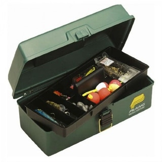 PlanoA 1001-03 One Lift Out Tray Tackle Box, Dark Green