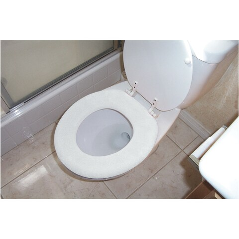 Soft & Comfy Toilet Seat Cover - Hygienic Washable Set of 2 Fits Round/Oval Seats