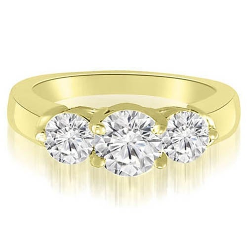 2.00 cttw. 14K Yellow Gold Classic Three-Stone Round Diamond Engagement Ring