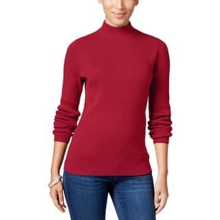Quick View.  12.62. Karen Scott Womens Mock Turtleneck Sweater Ribbed Long  Sleeves 407f45198