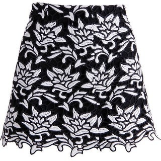 Juicy Couture Black Label Womens Lace Embroidered Mini Skirt - 8