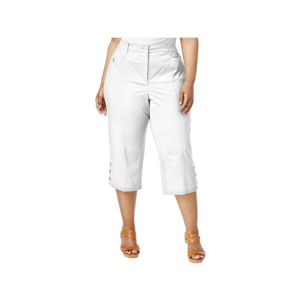 871b760557746 Shop Karen Scott Womens Plus Capri Pants Tummy Control Elastic Waist - Free  Shipping On Orders Over  45 - Overstock.com - 20820421