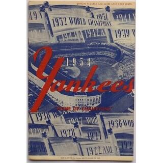 New York Yankees 1953 Yankee Stadium Home of the Champions Program & Score Card